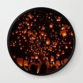 Lights in the dark Wall Clock