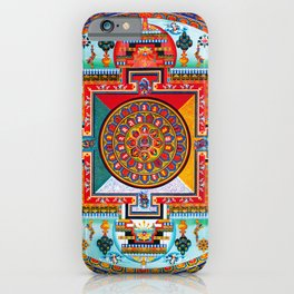 Buddhist Medicine Mandala 2 iPhone Case