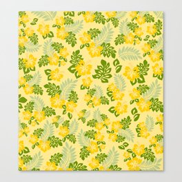 Hawaiian Pattern - Yellow Canvas Print