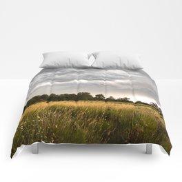 Stormy fields Comforters