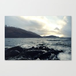 Rough sea Canvas Print