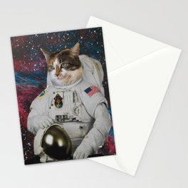 Cats in Space Stationery Cards