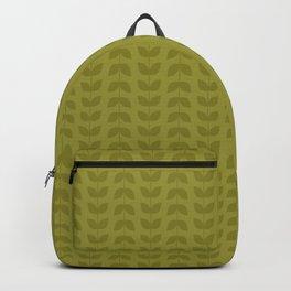 Golden Lime Leaves Backpack