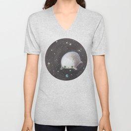 Blob floating in space Unisex V-Neck