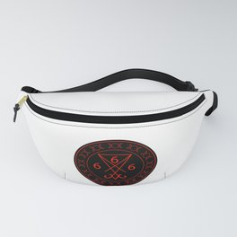 666- the number of the beast with the sigil of Lucifer symbol Fanny Pack