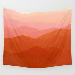 Hunter Mountain Cinnamon Wall Tapestry