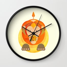 The rounded lion Wall Clock