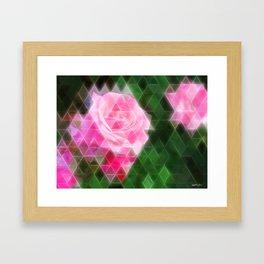 Pink Roses in Anzures 1 Art Triangles 2 Framed Art Print