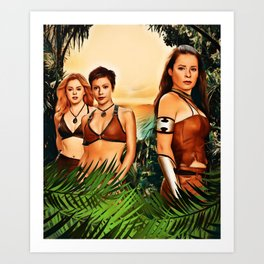 Charmed Valkyries Art Print