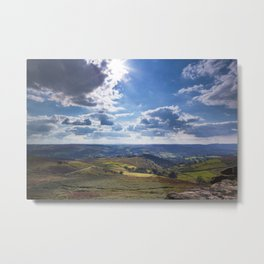View onto Hope Valley Metal Print