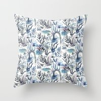 under the sea Throw Pillows featuring Under the Sea by jenna lechner
