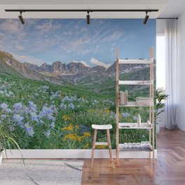 COLORADO HIGH COUNTRY MOUNTAIN SUMMER WILDFLOWERS LANDSCAPE PHOTOGRAPHY Wall Mural