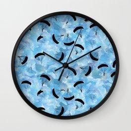 Blue Skies Skydive Wall Clock