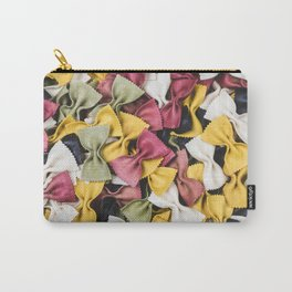 Colorful Dried Bowtie Pasta Carry-All Pouch