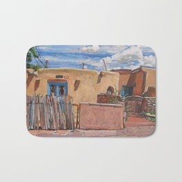 Adobe With Clouds, Santa Fe Bath Mat