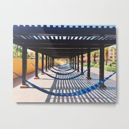 the beach and shadows Playa del Carmen Metal Print
