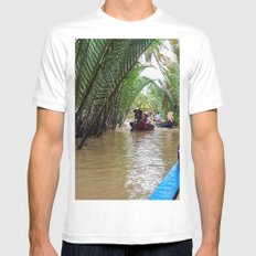 Tributary of the Mekong Delta MEDIUM Mens Fitted Tee White