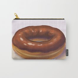 Chocolate Frosted Donut Carry-All Pouch
