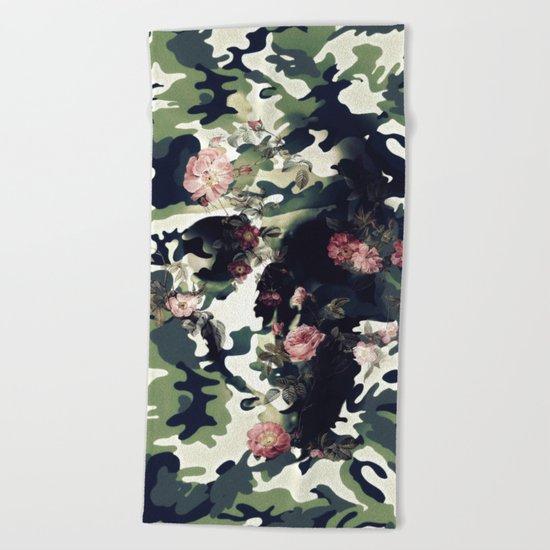 Camouflage Skull Beach Towel