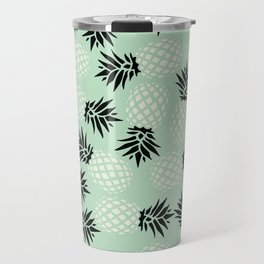 Mint Pineapple Pattern 023 Travel Mug