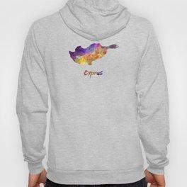 Cyprus in watercolor Hoody
