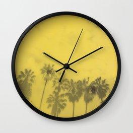 Yellow Palms Wall Clock