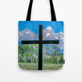 Grand Teton Cross View Tote Bag