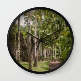 Palms in Tropical Garden Wall Clock