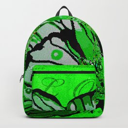 Butterfly REINDEER CELEBRATION in Green and White Backpack