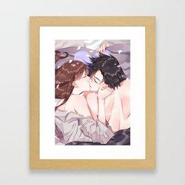 Jumin's morning kiss Framed Art Print