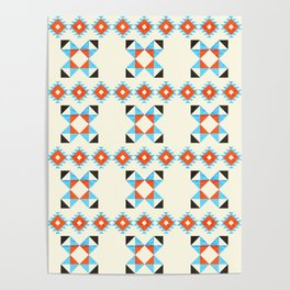 geometry navajo pattern no2 Poster