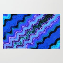 Blue Tranquil Waves Rug