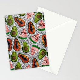 collage fruits pattern Stationery Cards