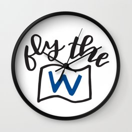 Fly The W Wall Clock