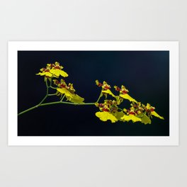 Dancing Lady Yellow Orchids Art Print