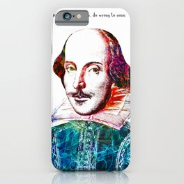 Graffitied Shakespeare iPhone Case
