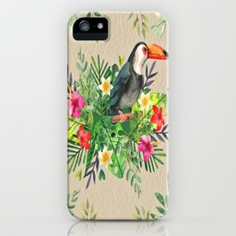 Tropic Wall-Bird iPhone Case