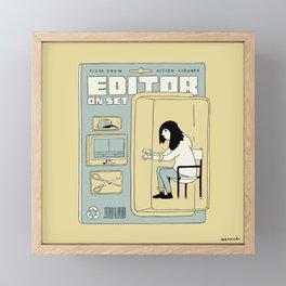 Editor Action Figure Framed Mini Art Print