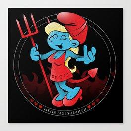 The Little Blue She-Devil Canvas Print
