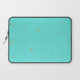 Turquoise Starburst Pattern Laptop Sleeve