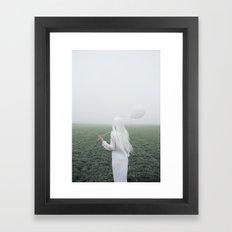 White girl Framed Art Print