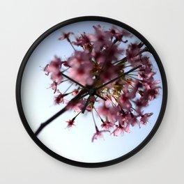 Pink Apple Blossom Wall Clock