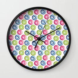 Donuts 2 Pattern Wall Clock