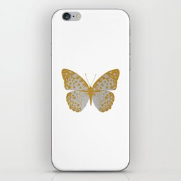 Silver Butterfly iPhone Skin
