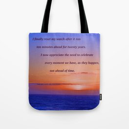 """""""Moonstone Beach Moment"""" with poem: And Counting Tote Bag"""