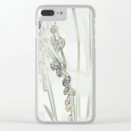 Trembling Grass Clear iPhone Case