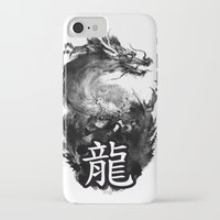 dragon iPhone & iPod Cases featuring Dragon by Jonathan Keuchkarian