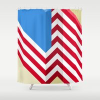flag Shower Curtains featuring Flag by Ryan Winters