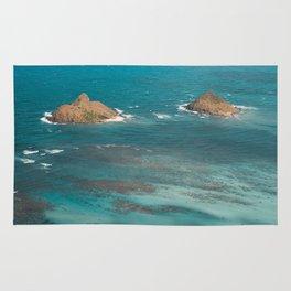 Na Mokulua Islands off Oahu's Coast Rug