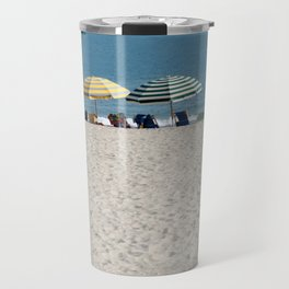 Bald Head Island Beach Umbrellas | Bald Head Island, North Carolina Travel Mug